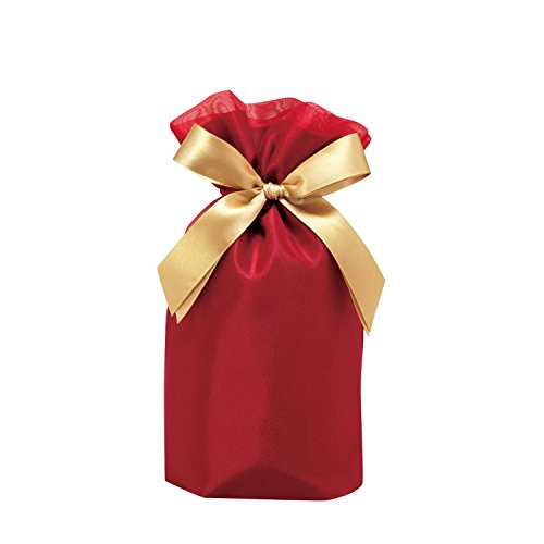包む ギフト袋 ラッピング 巾着 ノーブル ワインレッド M T-2804-M