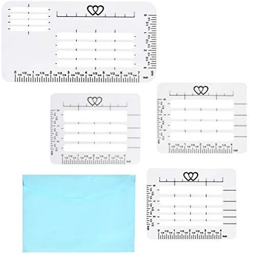 """""""N/A"""" 4 Stück Brief Formatschablone, Adress-Schablone, Schriftzüge Briefschablone für Umschläge, Schreiben, Rezeptkarten, Muttertagskarten, Hochzeitseinladungen"""
