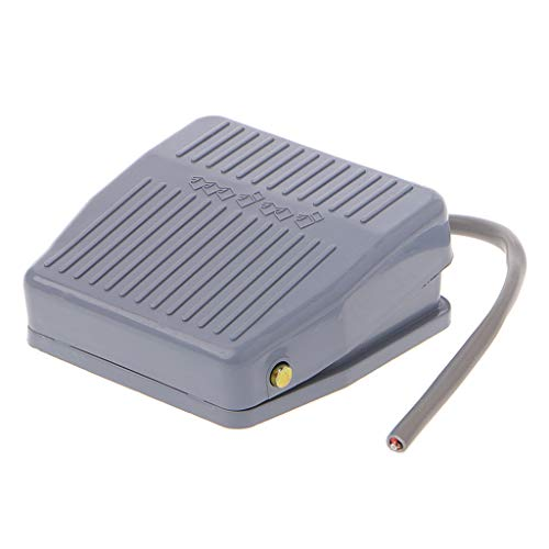 Qirun Interruptor de Pedal de pie 250V 10A SPDT 1NC 1NO Interruptor de Control de energía eléctrica momentánea