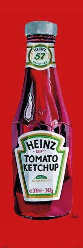 empireposter - Heinz - Tomato ketchup - grootte (cm), ca. 53x158 - deurposter, NIEUW -