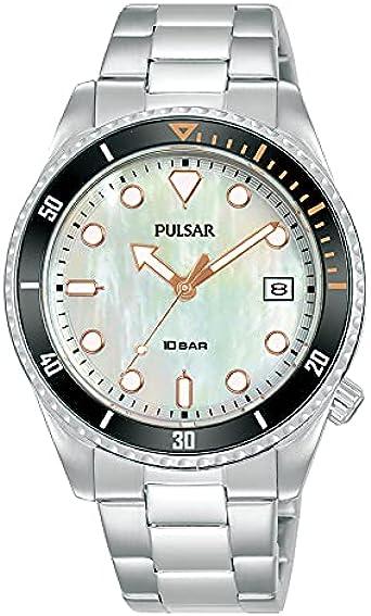 Pulsar Reloj Analógico para Hombre de Cuarzo con Correa en Metal PG8331X1