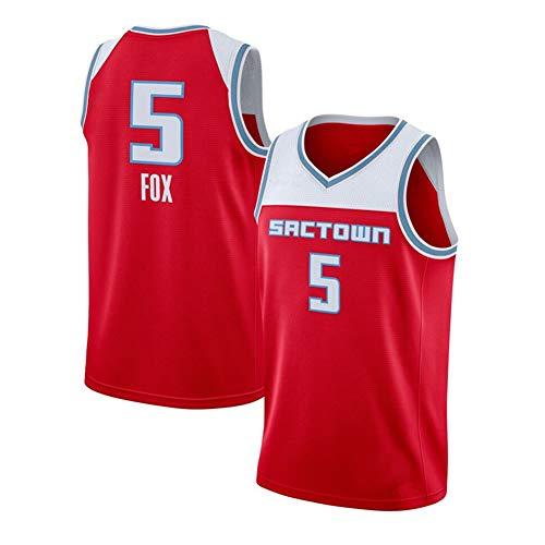 DIWEI Herren Basketballtrikot, Sacramento Kings#11 De'Aaron Fox, Street Retro T-Shirt Sommer Stickerei Tops Junge Swingman Basketball Kostüm Geburtstagsgeschenk (S-3XL) Gr. L, rot