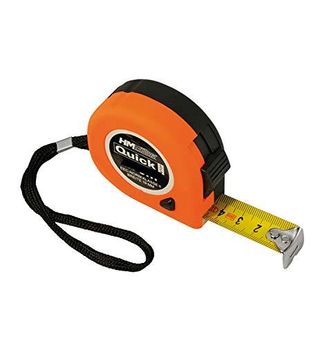 HM Rollmeter 8 m, 25 mm, m.Stop Softgriff, Clip, EG-Norm Kl.II