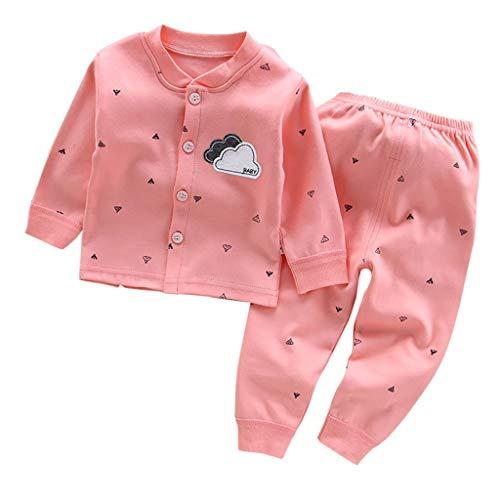Allence Jungen Zweiteiliger Schlafanzuge Baumwolle Streifen Lange Nachtwäsche Baby Pyjama Herbst Winter