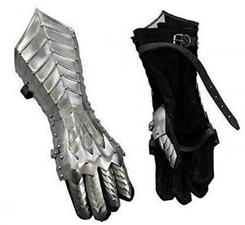 Medieval Collectibel Silver Finish Nazgul Gauntlets Steel Medieval Armor Gloves Replica