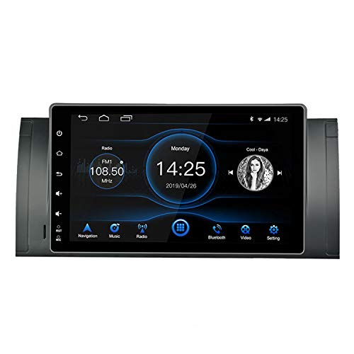 Panlelo Android 8.1 Car Stereo para BMW X5 E39 E53 M5 Autoradio Am FM RDS Pantalla táctil IPS de 9 Pulgadas Unidad Principal de 8 núcleos 4GB + 32GB Sat Navi Navegación GPS BT Wi-Fi