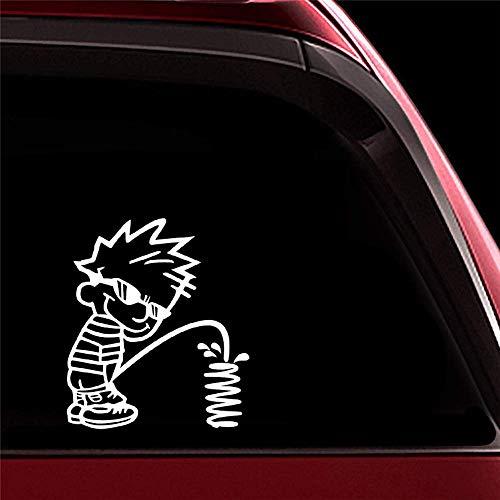 Auto-Aufkleber, 16 x 18 cm hoch, Cool Manneken PIS Auto-Heckscheibendekor Aufkleber für Stoßstange, Karosserie, Fenster, Tür, Heckscheibe