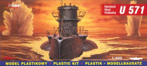 Mirage Hobby 40049, 1: 400 échelle, U-571 sous-marin allemand de type VIIC, kit de modèle en plastique
