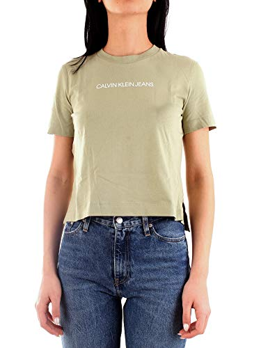 Calvin Klein Jeans dames t-shirt Shrunken Institutional Logo Tee