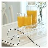 Tappetino protettivo trasparente da tavolo, tappetino da tavolo in plastica senza formaldeide, tappetino isolante termico monouso per tavolo da pranzo, comodino ( Size : 90*90 , Spessore : 1.3mm )
