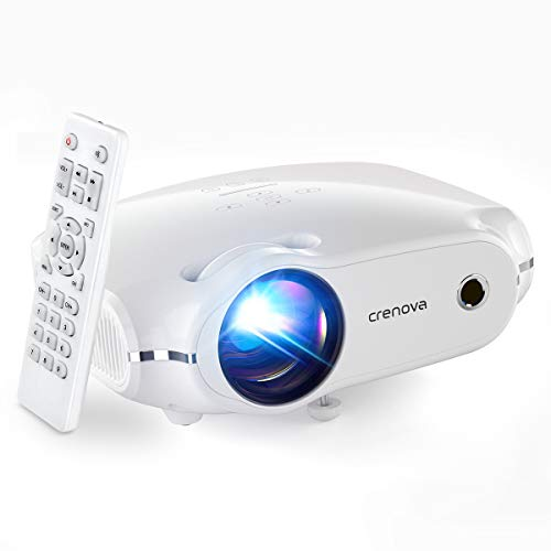 Crenova Mini Projector,1080P Supported Outdoor Movie Projector, 4500 Lux Portable Phone Projector for Home Theater with Max 200