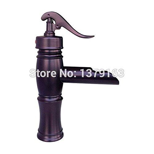 Retro Deluxe Faucetinging NIEUWE Water Pomp Look Stijl Olie Rubbed Brons Koper Enkele Handvat Badkamer Vesel wastafel Kraan Mixer Taps apt016 Brons