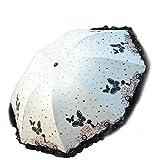 二重層黒い接着剤日傘女性雨逆傘パラグアス防風-白-