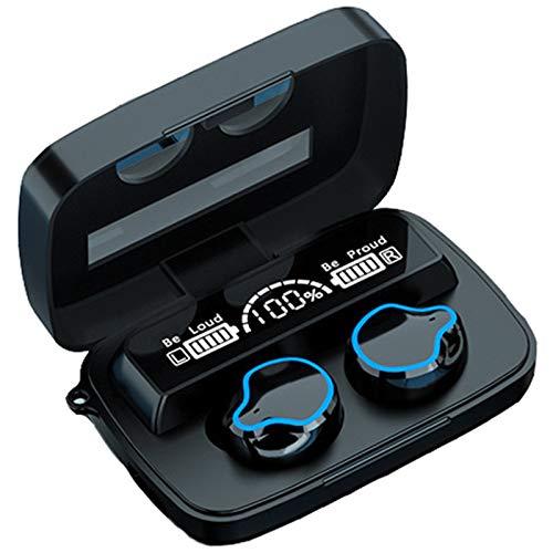 JBTM Auriculares Inalámbrico Auriculares Bluetooth 5.1, Cancelación De Ruido HiFi, contra El Agua Adecuado para Deportes Y Viajes
