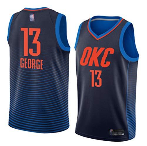 OKC (Paul George Urban Nr. 13 und Anthony Nr. 7) Basketballkleidung Oklahoma City Thunder Trikot Kinder junge Männer Damen klassische ärmellose Herren Basketball Weste Hemd Shorts Anzug-XXL-Bluelake