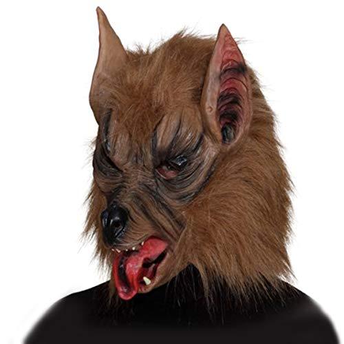ORLOB Masque de Loup-Garou-Marron