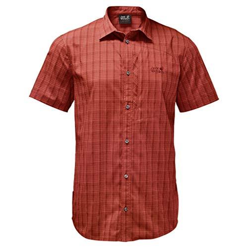 Jack Wolfskin Herren Rays Stretch Vent Hemd, Mexican Pepper Checks, XL, 1401552