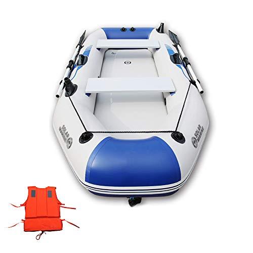 LK-HOME Canotto Gonfiabile per 2-3 Persone, Gommone Gommone con Remi E Pompa in Alluminio, Barca da Pesca Explorer, 230 * 128 cm,Standard