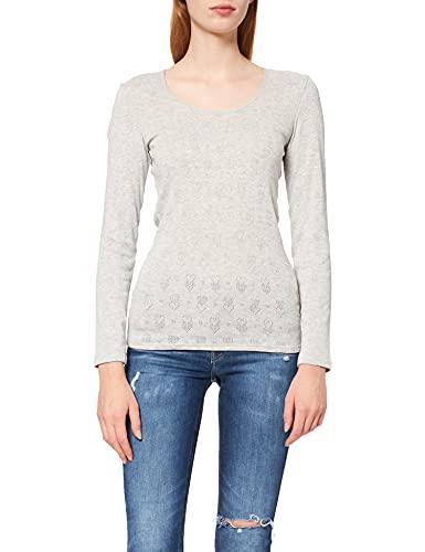 Damart tee Shirt Manches Longues Camiseta térmica, Gris (Gris Chine 56678/11011/), 46 (Talla del Fabricante: Large) para Mujer