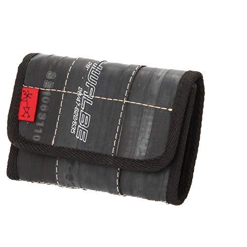 Stef Fauser Münzinger Fahrradschlauch Geldbeutel schwarz 15 x 9 cm Portemonnaie