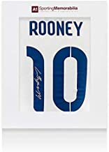 Wayne Rooney Signed 2014/15 England Shirt Number 10 With Fan Style Numbers - Gif - Autographed Soccer Jerseys