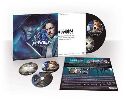 X-Men Prequel Trilogy - 3-DVD Vintage Set ( X: First Class / X-Men: Days of Future Past / X-Men: Apocalypse ) [ NON-USA FORMAT, PAL, Reg.2 Import - Spain ]