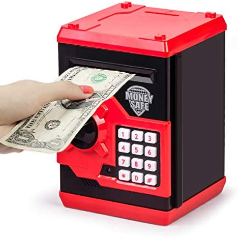 Highttoy Password Safe for Girls,Birthday Gifts for 3-12 Years Old Kids Money Box Electronic ATM Savings Bank for Kids Piggy Bank for Girls Banknote Coin Jar Lockable Money Bank for Kids Purple