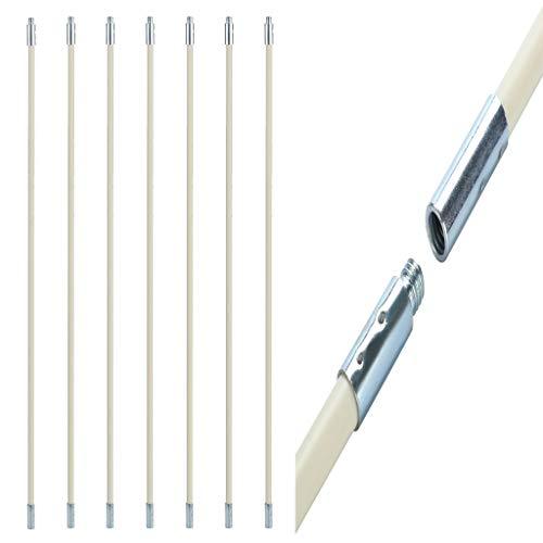 DEtrade Schornstein Trockner Rohr Sauber Verlängern Ersetzen Pinselstange Der Innenwand-Reinigungsstab des Schornsteinrohrs kann zur Reinigung des Rohrs Gebogen Werden (C 7X)