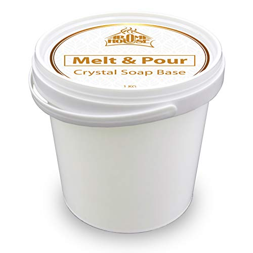 Glycerinseife Seifenbasis Crystal ST 1000g - Seifenbasis 1kg - Melt & Pour Seifenbase - Rohseife - Transparent - Kreativ- Seife - Handgemacht - Schönes Geschenk
