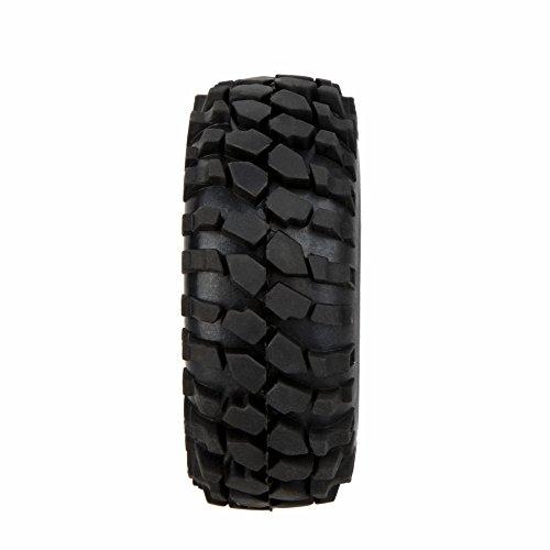 D DOLITY Juego de 4Negro neumáticos gummin Llantas para 1/10RC Auto