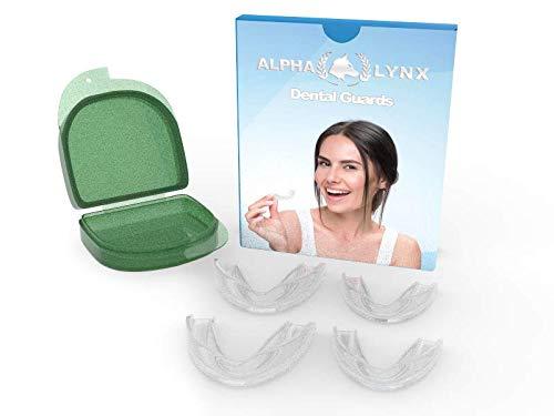 Mundschutz für Zähneknirschen – Nachtbruxismus Zahnpflege – 4er-Pack – stoppt Zähneknirschen – Schlaf-Mundschutz