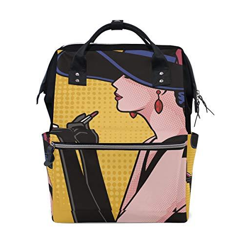 Woman Pop Art Make-up luiertas rugzak voor mama grote unisex luiertassen babyverzorging reisrugzak outdoor school laptoptas