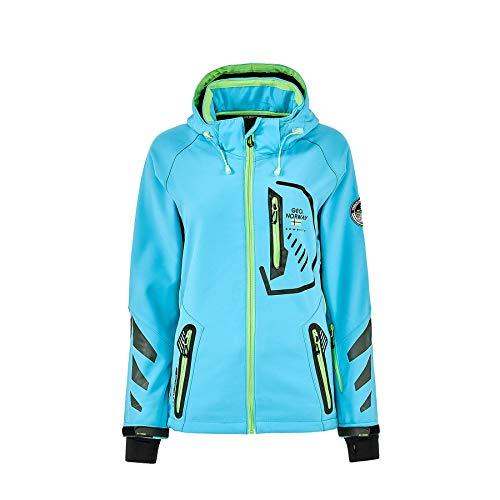 Geographical Norway Damen Softshell Funktions Outdoor Regen Jacke Sport [GN-Thea-Türkis-Gr.L]
