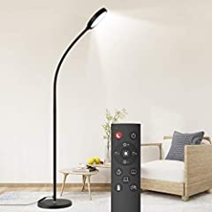 2 in 1 Smart Remote Control and Touch Control:With the remote control, you can easily control the floor lamp, without leaving the sofa and warm bed (with a 36ft/15m range).With the touch control,Stepless brightness adjustment(Brightness from 10% to 1...