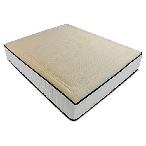 Baldiflex Materasso Francese 140x190 cm Memory Cotton ad Alta Presa di Forma in Lattice e Memory Traspirante, Anallergico, Tessuto Antibatterico in Cotone. Altezza 18 cm.