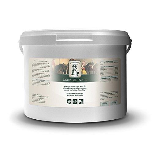 Mühldorfer Masculine E, 3 kg, fördert den Muskelaufbau, für eine entspannte und kräftige Muskulatur, dopingfrei, Ergänzungsfutter für Pferde und Ponys