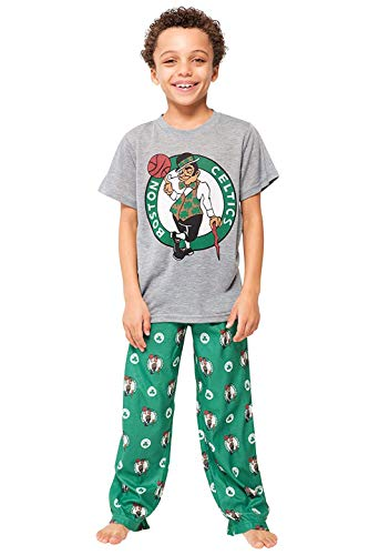 Ultra Game NBA Boston Celtics Boys 2 Piece Pjs Lounge Pants & Tee Set, Kelly Green, (10-12) Youth Boys Large