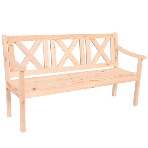 Mendler Gartenbank Bank Parkbank Kopenhagen 3-Sitzer 160 cm Holz Gastronomie-Qualität ~ Natur