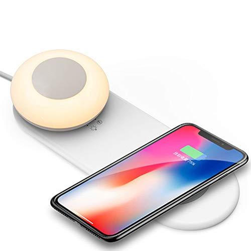 ATITF Draadloze universele oplader voor mobiele telefoon, led, nachtlampje, afneembare magnetische aantrekking, verstelbaar, bureaulamp