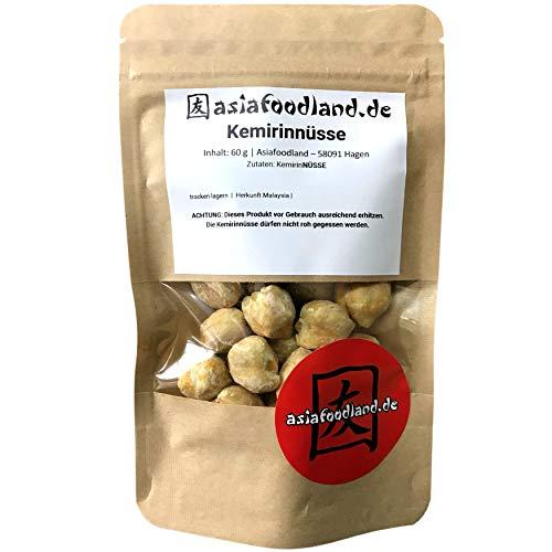 Asiafoodland - Kemirinüsse - Candle nuts - Kerzennuss - Lichtnuss - 60 g