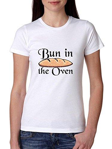 Bun In the Oven - Grappig Zwangere Zeggen Vrouwen Katoen T-Shirt