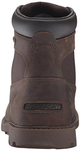 Rockport Men's Rugged Bucks Waterproof High Chukka Boot, Dark Brown, 9.5 M (D)