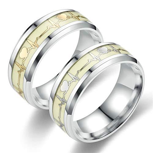 ANAZOZ 2 Stücke Paarringe Edelstahl Ringe Partnerringe Matt Edelstahl Herrenring Antik Eheringe Verlobungsringe Damen Größe 60 (19.1) & Herren Größe 52 (16.6)