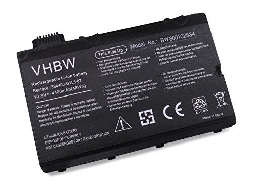 vhbw Akku passend für Fujitsu Siemens Amilo Pi3450, Pi3525, Xi2550 Laptop Notebook (Li-Ion, 4400mAh, 11.1V, 48.84Wh, schwarz)