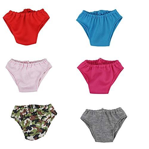 Mini Lindo De La Ropa Interior De Las Bragas De La Muñeca Creativos Mini Shorts Calzoncillos Bodyshorts La Muñeca De La Ropa De Las Muchachas De 18 Pulgadas Muñeca Ropa 6pcs Suministros
