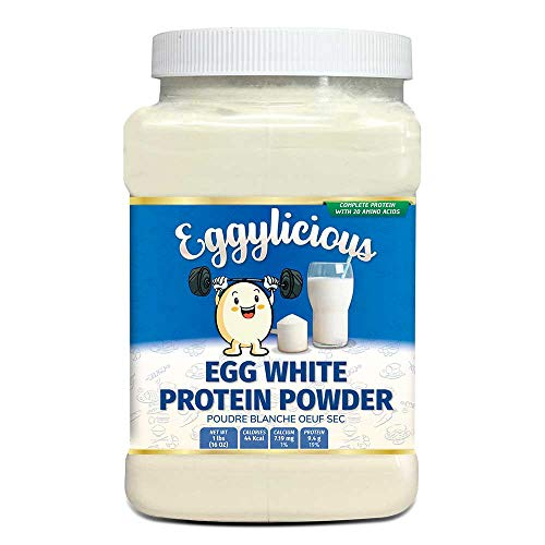Eggylicious Egg White (Albumin) Powder, Dried Natural Protein Powder, Made from Fresh Eggs, Pasteurized,Non-GMO, No Additives, Used for Baking Icing,1lbs(16oz)