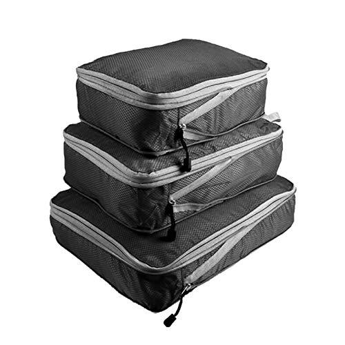 Augus Jacob 3 UNIDS/Set Embalaje DE Almacenamiento DE Almacenamiento Equipaje DE Equipaje Males DE Equipaje Conjunto DE NEYLON PROPIOTE FOTBLE (Color : Black)