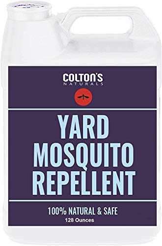 Colton's Naturals - Mosquito Repellent for Yard - 1 GAL Repellent Outdoor Yard Spray for Home, Lawn, Patio, & Garden - Yard Perimeter Outdoor Concentrate Spray Barrier - Safe for Kids & Pets 128oz