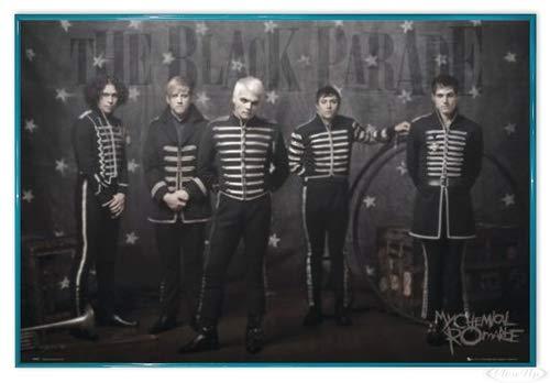 Close Up My Chemical Romance Poster (63,5x94 cm) gerahmt in: Rahmen türkis
