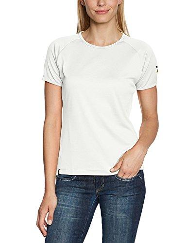 Salewa Sporty Dry T-Shirt pour Femme à Manches Courtes, Blanc (Snow)